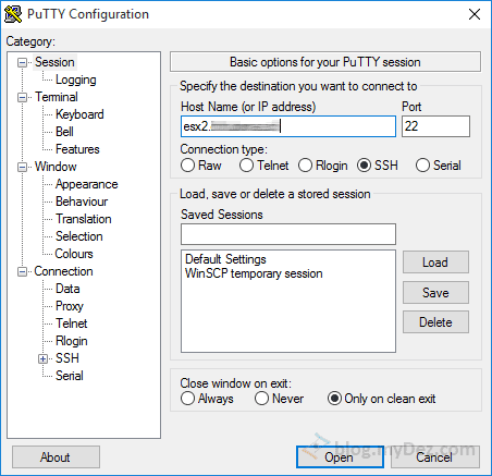 اتصال به Host از طریق PuTTY