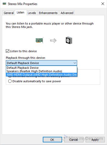 تنظیمات Stereo Mix جهت خروجی روی HDMI